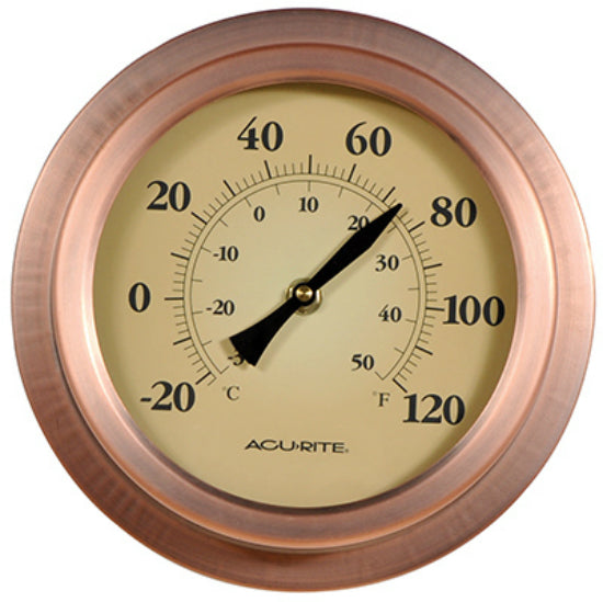 Acu-Rite 02321A02 Brushed Copper Thermometer, 8""