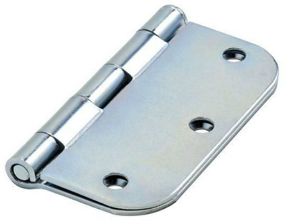 "National Hardware® N830-188 Door Hinge with 5/8"" Round Corner, Zinc, 3-1/2"""