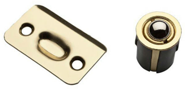 National Hardware® N830-106 Drive-In Ball Catch, Polished Brass, SPB1440
