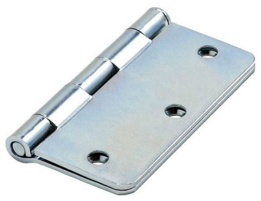 "National Hardware® N830-191 Door Hinge with 1/4"" Round Corner, Zinc, 3.5"""