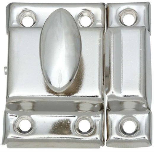 "National Hardware® N149-641 Steel Cupboard Turn, Nickel, 1-1/4"" x 1-3/4"""