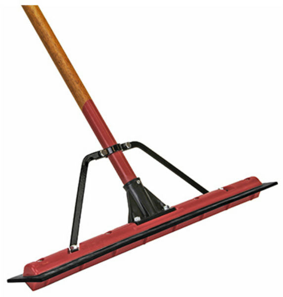"Harper Brush 5324224A PowrWave® Floor Squeegee w/ 1-1/8"" x 60"" Wood Handle, 24"""