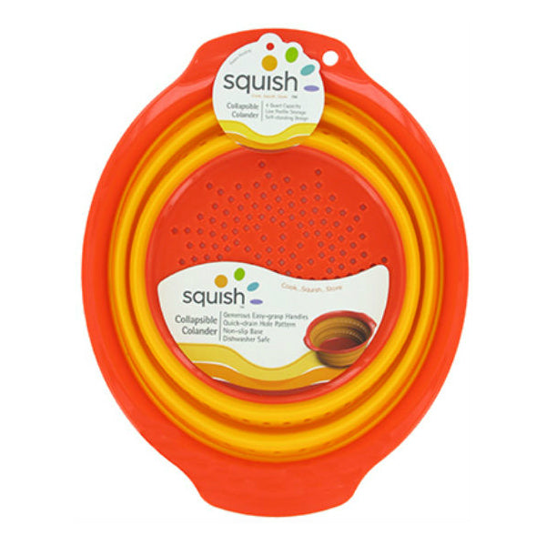 Squish™ 41000 Collapsible Colander, Red & Yellow, 4 Quart