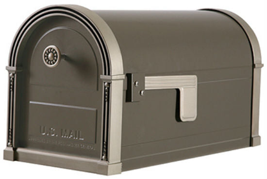 Gibraltar HM16NL01 High Grove Roadside Premium Mailbox, Light Bronze