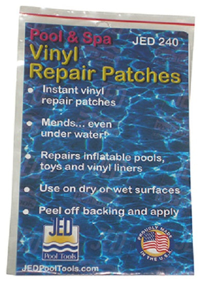 "JED Pool Tools 35-240 Square Vinyl Repair Patch, 3"" x 5"""