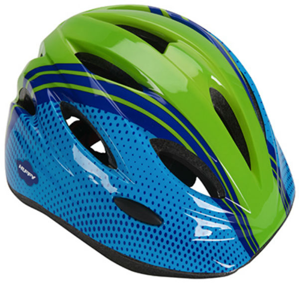 Huffy 00347HL Boys Youth Bike Helmet, Blue & Green