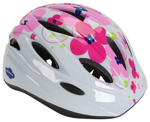 Huffy 00346HL Girls Youth Bike Helmet, White & Pink