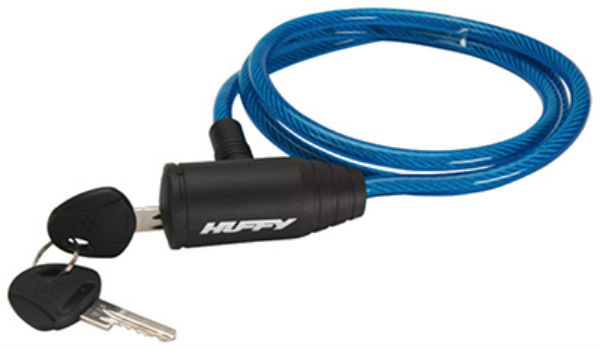Huffy 00233LK Translucent Cable Bike Lock with Two Keys, Blue, 48""
