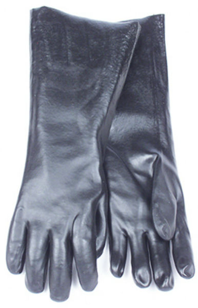 SMV 7188CG Chemical Glove, Sandy Black, Large, 18""