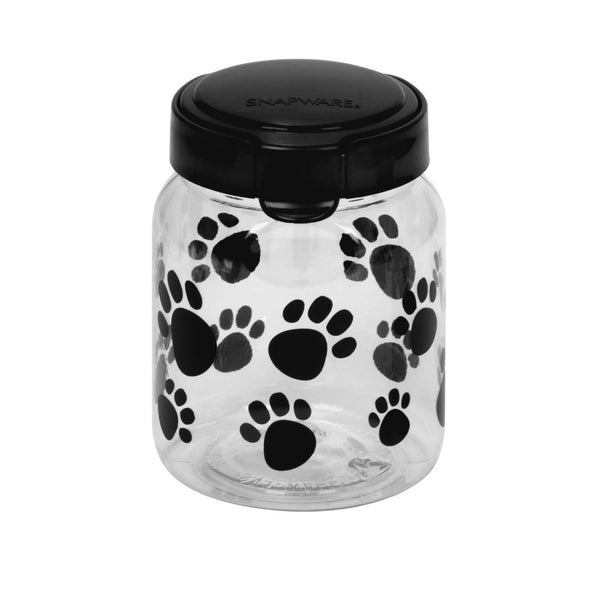 Snapware® 1098566 Paw Print Plastic Pet Treat Container with Lid, 4.2 Cup