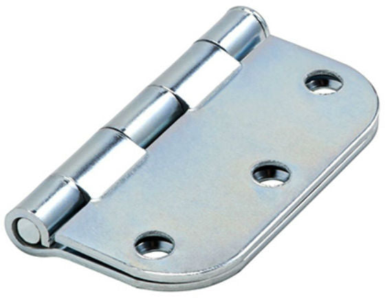 "National Hardware® N830-190 Door Hinge with 5/8"" Round Corner, Zinc, 3"""
