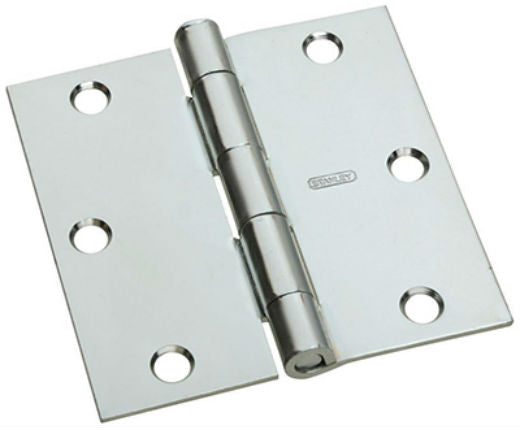 National Hardware® N830-196 Square Corner Door Hinge, Zinc, 3""