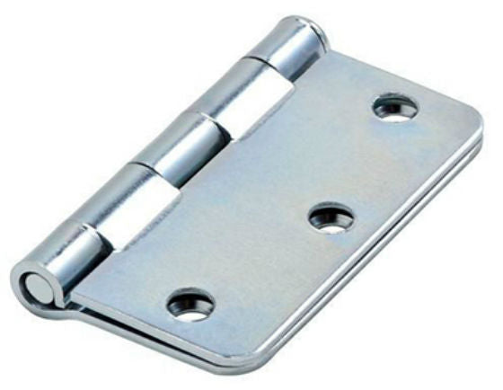 "National Hardware® N830-193 Door Hinge with 1/4"" Round Corner, Zinc, 3"""