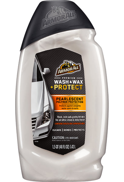 Armor All 17449 Premium Wash & Wax Plus Protect, 48 Oz