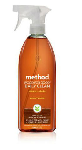 Method® 01182 Wood For Good® Daily Cleaner Spray, Almond, 28 Oz