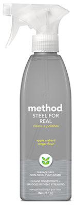 Method® 00084 Steel For Real Stainless Steel Cleaner, Apple Orchard, 12 Oz