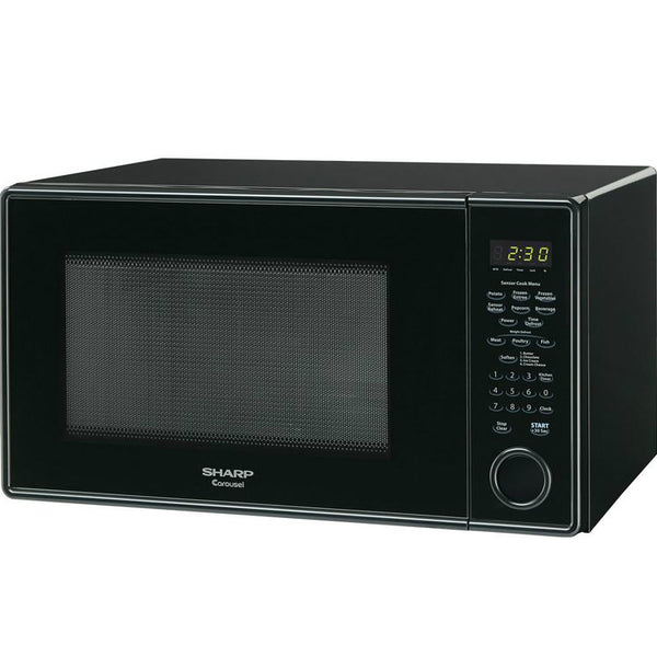 Sharp® R459YK Carousel® Countertop Microwave Oven, 1000-Watt, 1.3 Cu Ft, Black