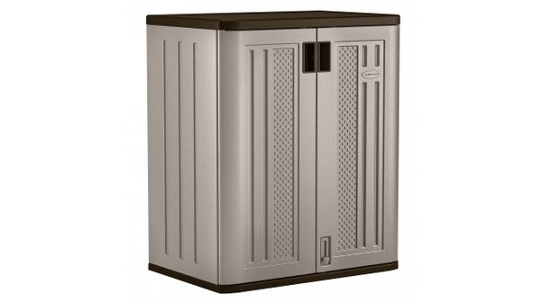 "Suncast® BMC3600 Base Storage Cabinet, 36"", Platinum, Resin"