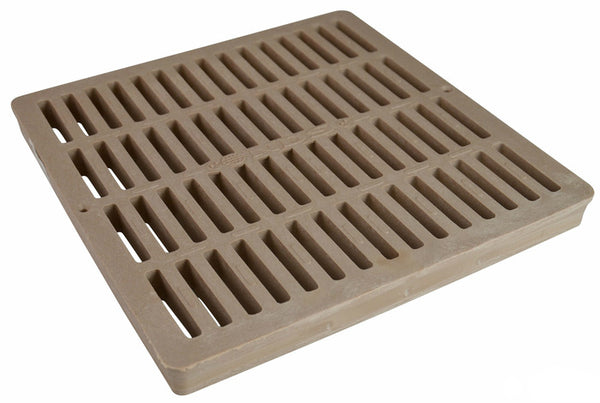 "NDS 1212S Polyolefin Square Grate, 12"" x 12"", Sand"