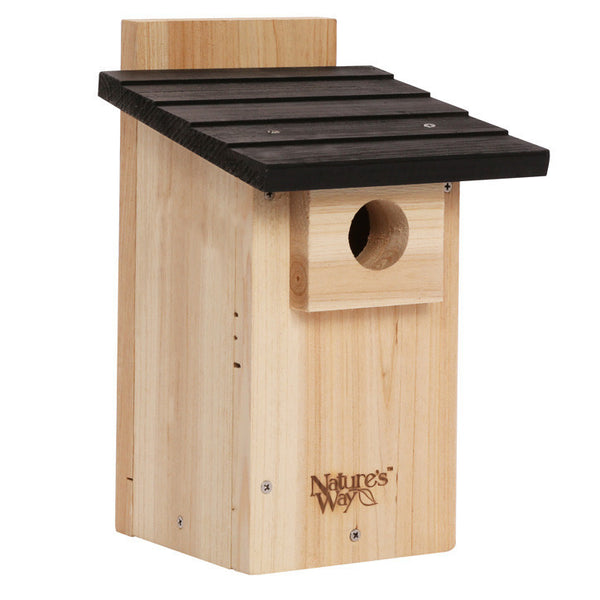 Nature's Way™ CWH4 Cedar Bluebird Box House with Viewing Window