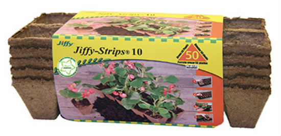 Jiffy® JS50 Biodegradable Peat Strip, 50-Count