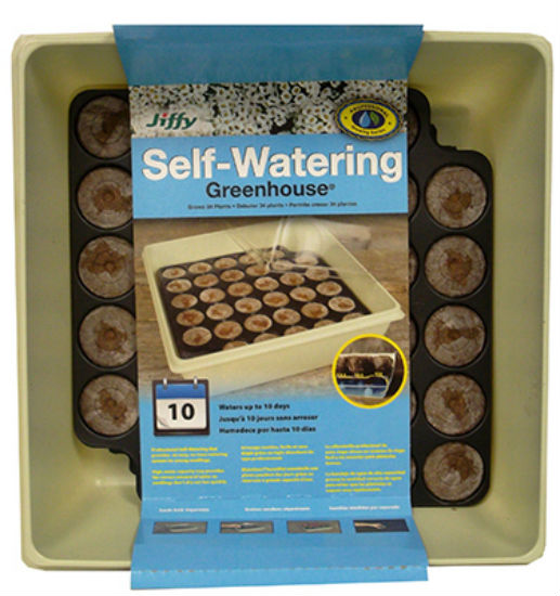 Jiffy® T34H Self Watering Greenhouse, 34-Count
