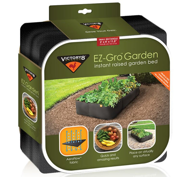 Victory 8 Garden 2000 EZ-Gro Instant Raised Garden Bed, Small Rectangle, 2' x 4'