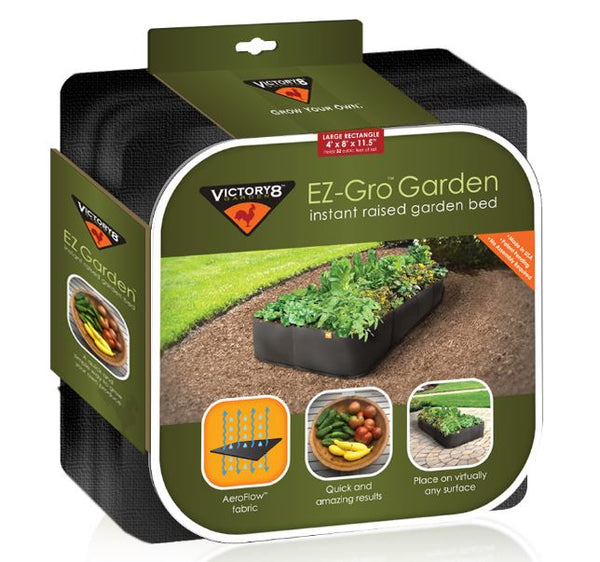 Victory 8 Garden™ 2002 EZ-Gro™ Instant Raised Garden Bed, Large Rectangle, 4'x8'