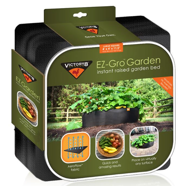 Victory 8 Garden™ 3004 EZ-Gro™ Instant Raised Garden Bed, Large Square, 4'x4'