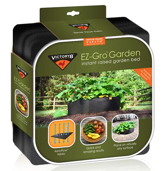 Victory 8 Garden™ 3002 EZ-Gro™ Instant Raised Garden Bed, Medium Square, 3'x3'