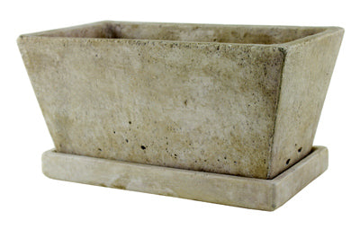 Syndicate Sales 7911-04-901 Tapered Planter with Tray, Weathered Slate, 9.5""
