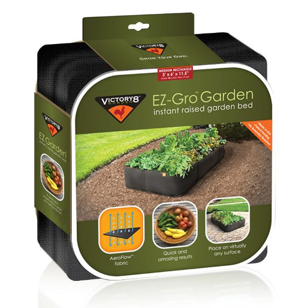 Victory 8 Garden™ 2001 EZ-Gro™ Instant Raised Garden Bed, Medium Rectangle, 3'x6'
