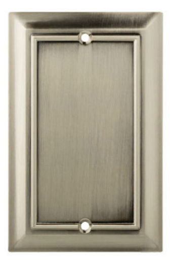 Brainerd® W18195-SN-U Architectural 1-Gang Blank Wall Plate, Satin Nickel