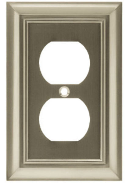 Brainerd® W10086-SN-U Architectural Duplex Wall Plate, Satin Nickel, 1 Gang