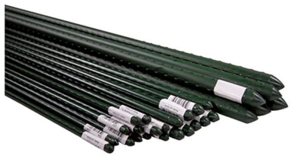 Miracle-Gro® SMG12035 Super Steel Plant Stake, Green Plastic Coated, 2', 4-Pack