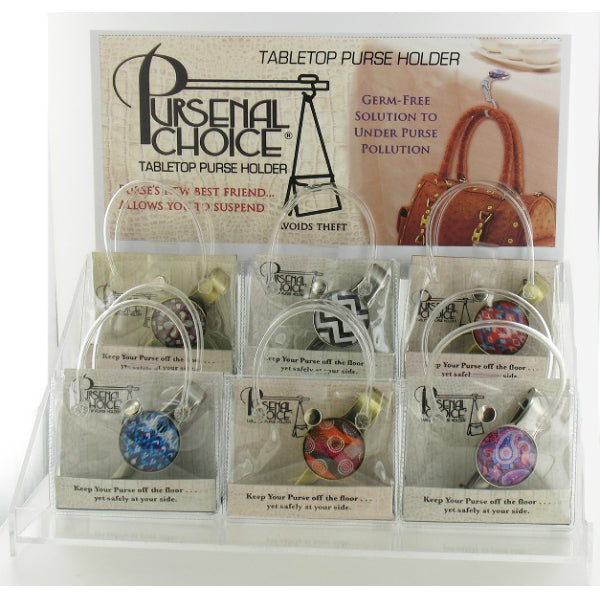 Pursenal Choice® PURS-AS Tabletop Purse Holder Display
