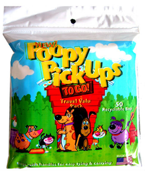 Poopy Products 88-1 Pick Ups To Go Bag, 50-Count