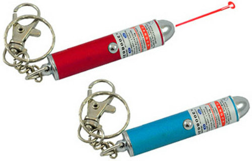 Blazing LEDz 900234 Flashlight with Laser, Red/Blue with Keychain