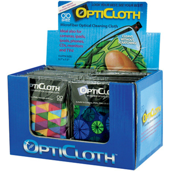 "OptiCloth™ OC-CLN Microfiber Optical Cleaning Cloth, 5.5"" x 7.5"""