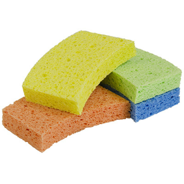 Lysol® 57531-4PDQ Odor Resistant Cellulose Sponges, Assorted Colors, 4-Pack