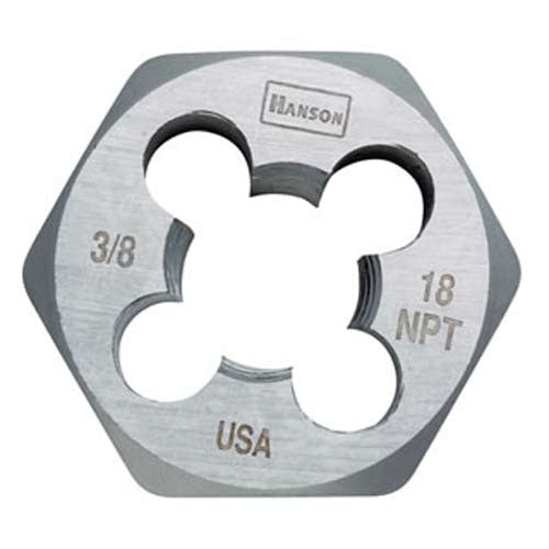 "Irwin® 7004 Hanson® Hexagon Taper Pipe Die, 3/8""-18 NPT, 1-7/16"" Across"