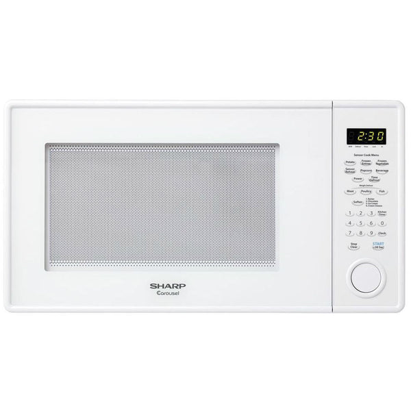 Sharp® R459YW Carousel® Countertop Microwave Oven, 1000-Watt, 1.3 Cu.Ft, White