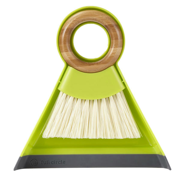 "Full Circle FC14608 Tiny Team Mini Brush & Dustpan Set, 7"" x 7"", Green"