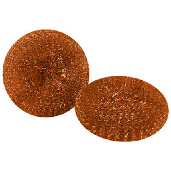 Quickie® 503-3/72 Mesh Scourers Copper Coated Mesh Pads, 2-Pack