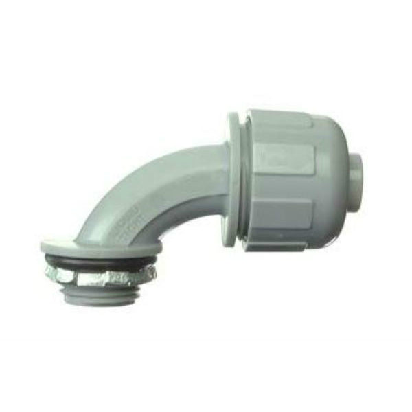 Halex® 27691 PVC 90-Degree Liquid Tight Connector, 1/2""