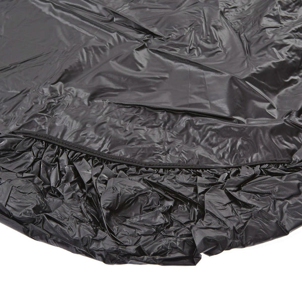 "Kwik-Covers® 3072PK-BLK Banquet Table Cover with Elastic Edging, Black, 30""x72"""