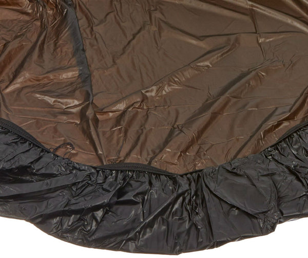 Kwik-Covers® 60PK-BLK Round Plastic Table Cover w/ Elastic Edging, Black, 60""