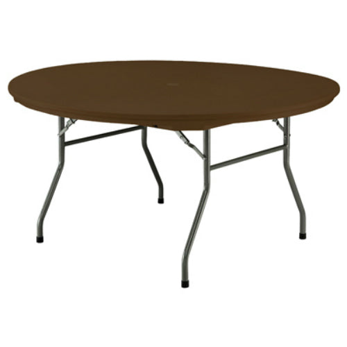 "Pre Sales 3640 Polyethylene Resin Rhino Round Table, 60"", Dark Brown"