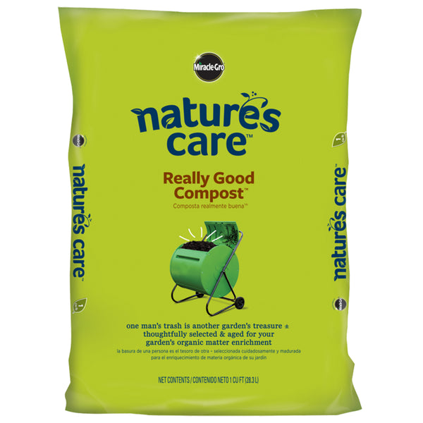Miracle-Gro 70951120 Nature's Care Really Good Compost, 1 Cu Ft