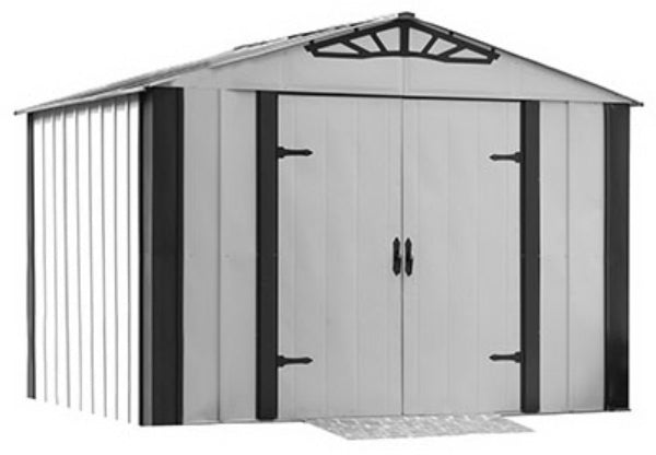 Arrow Shed AR108 Arlington Series Shed, 10' x 8', Electro Galvanized Steel